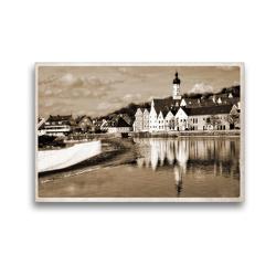 Premium Textil-Leinwand 45 x 30 cm Quer-Format Landsberg am Lech Fotografien im Stil historischer Postkarten | Wandbild, HD-Bild auf Keilrahmen, Fertigbild auf hochwertigem Vlies, Leinwanddruck von Martina Marten