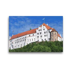 Premium Textil-Leinwand 45 x 30 cm Quer-Format Landshut – Burg Trausnitz | Wandbild, HD-Bild auf Keilrahmen, Fertigbild auf hochwertigem Vlies, Leinwanddruck von Angelika Keller