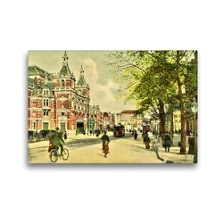 Premium Textil-Leinwand 45 x 30 cm Quer-Format Leidscheplein m. Stadsschouwburg, Amsterdam | Wandbild, HD-Bild auf Keilrahmen, Fertigbild auf hochwertigem Vlies, Leinwanddruck von Jens Siebert