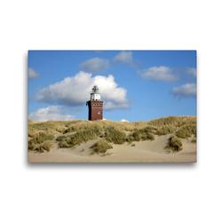 Premium Textil-Leinwand 45 x 30 cm Quer-Format Leuchtturm und Düne | Wandbild, HD-Bild auf Keilrahmen, Fertigbild auf hochwertigem Vlies, Leinwanddruck von Susanne Herppich