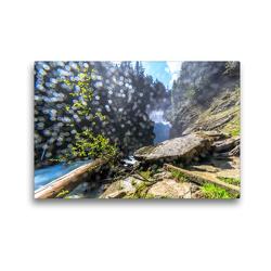 Premium Textil-Leinwand 45 x 30 cm Quer-Format Lichterrausch an den Bear Falls | Wandbild, HD-Bild auf Keilrahmen, Fertigbild auf hochwertigem Vlies, Leinwanddruck von Adrian Geering
