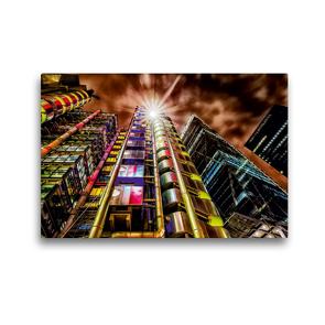 Premium Textil-Leinwand 45 x 30 cm Quer-Format Lloyd's Building in London, Großbritannien | Wandbild, HD-Bild auf Keilrahmen, Fertigbild auf hochwertigem Vlies, Leinwanddruck von Christian Müller