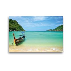 Premium Textil-Leinwand 45 x 30 cm Quer-Format Lohlanah Bay, Koh Phi Phi | Wandbild, HD-Bild auf Keilrahmen, Fertigbild auf hochwertigem Vlies, Leinwanddruck von Ralf Wittstock