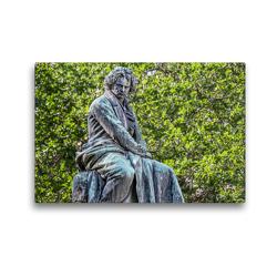 Premium Textil-Leinwand 45 x 30 cm Quer-Format Ludwig van Beethoven (1770-1827), Plastik von Caspar von Zumbusch 1880, Wien Innere Stadt | Wandbild, HD-Bild auf Keilrahmen, Fertigbild auf hochwertigem Vlies, Leinwanddruck von Werner Braun