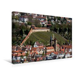 Premium Textil-Leinwand 45 x 30 cm Quer-Format Luftbild auf Burg und Stadtkirche | Wandbild, HD-Bild auf Keilrahmen, Fertigbild auf hochwertigem Vlies, Leinwanddruck von Horst Eisele