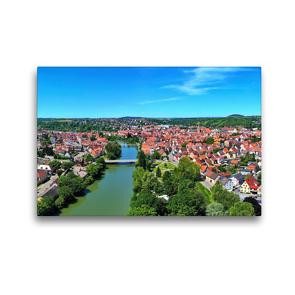 Premium Textil-Leinwand 45 x 30 cm Quer-Format Luftbild von Rottenburg am Neckar | Wandbild, HD-Bild auf Keilrahmen, Fertigbild auf hochwertigem Vlies, Leinwanddruck von Werner Thoma