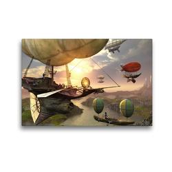 Premium Textil-Leinwand 45 x 30 cm Quer-Format Luftschiffe | Wandbild, HD-Bild auf Keilrahmen, Fertigbild auf hochwertigem Vlies, Leinwanddruck von Karsten Schröder