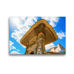 Premium Textil-Leinwand 45 x 30 cm Quer-Format Malerisches Tor des Teppichmuseums Hali | Wandbild, HD-Bild auf Keilrahmen, Fertigbild auf hochwertigem Vlies, Leinwanddruck von Christian Müller