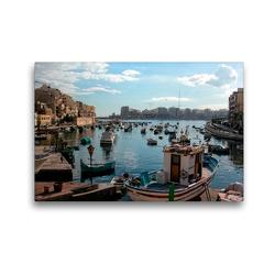 Premium Textil-Leinwand 45 x 30 cm Quer-Format Malta | Wandbild, HD-Bild auf Keilrahmen, Fertigbild auf hochwertigem Vlies, Leinwanddruck von joern stegen