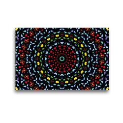 Premium Textil-Leinwand 45 x 30 cm Quer-Format Mandala 12 CB | Wandbild, HD-Bild auf Keilrahmen, Fertigbild auf hochwertigem Vlies, Leinwanddruck von Claudia Burlager