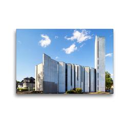 Premium Textil-Leinwand 45 x 30 cm Quer-Format Mannheim – Versöhnungskirche | Wandbild, HD-Bild auf Keilrahmen, Fertigbild auf hochwertigem Vlies, Leinwanddruck von Thomas Seethaler