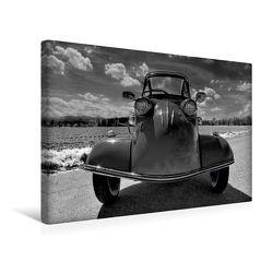 Premium Textil-Leinwand 45 x 30 cm Quer-Format Messerschmitt KR 200 in schwarzweiß | Wandbild, HD-Bild auf Keilrahmen, Fertigbild auf hochwertigem Vlies, Leinwanddruck von Ingo Laue