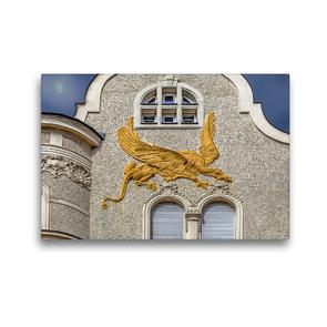 Premium Textil-Leinwand 45 x 30 cm Quer-Format Miethaus, Ludwig Tischler und Hubert Gangl 1906/1907, Wien Alsergrund | Wandbild, HD-Bild auf Keilrahmen, Fertigbild auf hochwertigem Vlies, Leinwanddruck von Werner Braun