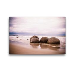Premium Textil-Leinwand 45 x 30 cm Quer-Format Moeraki Boulders am Koekohe Beach | Wandbild, HD-Bild auf Keilrahmen, Fertigbild auf hochwertigem Vlies, Leinwanddruck von Art is Passion Photodesign by Silvia Höld
