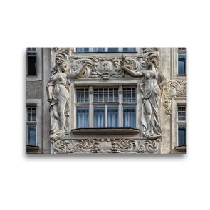 Premium Textil-Leinwand 45 x 30 cm Quer-Format Monumentale Fassadendekoration am Palais de Beaux Arts | Wandbild, HD-Bild auf Keilrahmen, Fertigbild auf hochwertigem Vlies, Leinwanddruck von Werner Braun