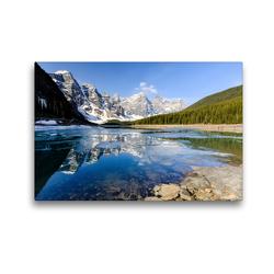 Premium Textil-Leinwand 45 x 30 cm Quer-Format Moraine Lake, Juwel im Banff NP. | Wandbild, HD-Bild auf Keilrahmen, Fertigbild auf hochwertigem Vlies, Leinwanddruck von Adrian Geering