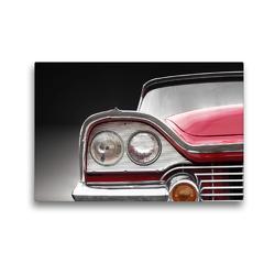 Premium Textil-Leinwand 45 x 30 cm Quer-Format Motiv US Oldtimer CORONET 1958 aus dem Kalender US Klassiker 1956 bis 1966 von Beate Gube Kühlergrill eines klassischen Automobils Oldtimer | Wandbild, HD-Bild auf Keilrahmen, Fertigbild auf hochwertigem Vlies, Leinwanddruck von Beate Gube