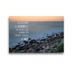 Premium Textil-Leinwand 45 x 30 cm Quer-Format Motivation und Meer   Wandbild, HD-Bild auf Keilrahmen, Fertigbild auf hochwertigem Vlies, Leinwanddruck von Dirk Meutzner