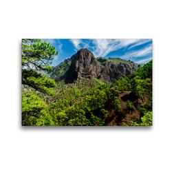 Premium Textil-Leinwand 45 x 30 cm Quer-Format Nationalpark Caldera de Taburiente | Wandbild, HD-Bild auf Keilrahmen, Fertigbild auf hochwertigem Vlies, Leinwanddruck von Michael Jaster