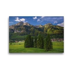 Premium Textil-Leinwand 45 x 30 cm Quer-Format Nesselwängle   Wandbild, HD-Bild auf Keilrahmen, Fertigbild auf hochwertigem Vlies, Leinwanddruck von Steffen Gierok