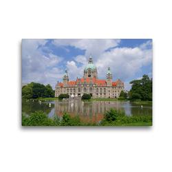 Premium Textil-Leinwand 45 x 30 cm Quer-Format Neues Rathaus in Hannover | Wandbild, HD-Bild auf Keilrahmen, Fertigbild auf hochwertigem Vlies, Leinwanddruck von kattobello
