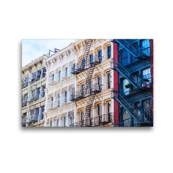 Premium Textil-Leinwand 45 x 30 cm Quer-Format Fassaden in Soho, New York City | Wandbild, HD-Bild auf Keilrahmen, Fertigbild auf hochwertigem Vlies, Leinwanddruck von Christian Müller
