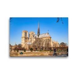 Premium Textil-Leinwand 45 x 30 cm Quer-Format Notre-Dame de Paris   Wandbild, HD-Bild auf Keilrahmen, Fertigbild auf hochwertigem Vlies, Leinwanddruck von Alessandro Tortora