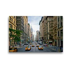 Premium Textil-Leinwand 45 x 30 cm Quer-Format NYC Fifth Avenue Verkehr | Wandbild, HD-Bild auf Keilrahmen, Fertigbild auf hochwertigem Vlies, Leinwanddruck von Melanie Viola