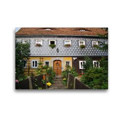 Premium Textil-Leinwand 45 x 30 cm Quer-Format Obercunnersdorf   Wandbild, HD-Bild auf Keilrahmen, Fertigbild auf hochwertigem Vlies, Leinwanddruck von Flori0