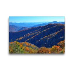 Premium Textil-Leinwand 45 x 30 cm Quer-Format Oconaluftee Valley Overlook, Smoky Mountains Nationalpark, North Carolina | Wandbild, HD-Bild auf Keilrahmen, Fertigbild auf hochwertigem Vlies, Leinwanddruck von gro