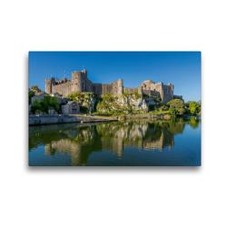 Premium Textil-Leinwand 45 x 30 cm Quer-Format Pembroke Castle | Wandbild, HD-Bild auf Keilrahmen, Fertigbild auf hochwertigem Vlies, Leinwanddruck von Rene Schubert