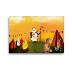 Premium Textil-Leinwand 45 x 30 cm Quer-Format Pfadfinder Ehrenwort! | Wandbild, HD-Bild auf Keilrahmen, Fertigbild auf hochwertigem Vlies, Leinwanddruck von Stephanie Langowski