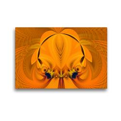 Premium Textil-Leinwand 45 x 30 cm Quer-Format Phantasievolle farbige abstrakte Twirl-Illustrationen | Wandbild, HD-Bild auf Keilrahmen, Fertigbild auf hochwertigem Vlies, Leinwanddruck von PICTURES MAKE MOMENTS – Andrea Wiechert