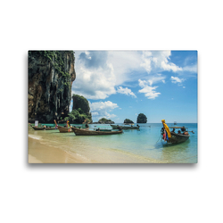 Premium Textil-Leinwand 45 x 30 cm Quer-Format Phra-Nang Beach   Wandbild, HD-Bild auf Keilrahmen, Fertigbild auf hochwertigem Vlies, Leinwanddruck von Christian Müringer