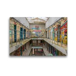 Premium Textil-Leinwand 45 x 30 cm Quer-Format Prison 15H | Wandbild, HD-Bild auf Keilrahmen, Fertigbild auf hochwertigem Vlies, Leinwanddruck von Industrieller