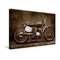 Premium Textil-Leinwand 45 x 30 cm Quer-Format Puch 125 SL Sandbahn | Wandbild, HD-Bild auf Keilrahmen, Fertigbild auf hochwertigem Vlies, Leinwanddruck von Gabi Siebenhühner