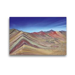Premium Textil-Leinwand 45 x 30 cm Quer-Format Rainbow Mountain, Vinicunca, Peru | Wandbild, HD-Bild auf Keilrahmen, Fertigbild auf hochwertigem Vlies, Leinwanddruck von © viaje.ch