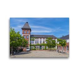 Premium Textil-Leinwand 45 x 30 cm Quer-Format Rathaus der Gemeinde Woltersdorf | Wandbild, HD-Bild auf Keilrahmen, Fertigbild auf hochwertigem Vlies, Leinwanddruck von ReDi Fotografie