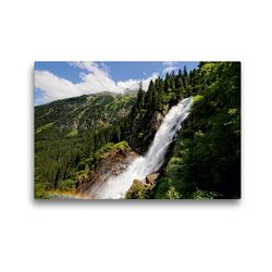 Premium Textil-Leinwand 45 x 30 cm Quer-Format Regenbogen am Krimmler Wasserfälle im Salzburger Land (Österreich) | Wandbild, HD-Bild auf Keilrahmen, Fertigbild auf hochwertigem Vlies, Leinwanddruck von Anja Frost