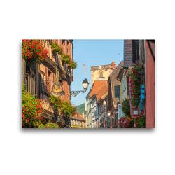 Premium Textil-Leinwand 45 x 30 cm Quer-Format Ribeauvillé | Wandbild, HD-Bild auf Keilrahmen, Fertigbild auf hochwertigem Vlies, Leinwanddruck von Jürgen Feuerer