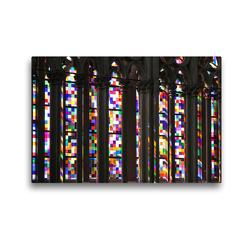 Premium Textil-Leinwand 45 x 30 cm Quer-Format Richter-Fenster im Kölner Dom | Wandbild, HD-Bild auf Keilrahmen, Fertigbild auf hochwertigem Vlies, Leinwanddruck von Elisabeth Schittenhelm