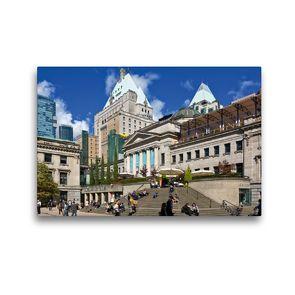Premium Textil-Leinwand 45 x 30 cm Quer-Format Robson Square   Wandbild, HD-Bild auf Keilrahmen, Fertigbild auf hochwertigem Vlies, Leinwanddruck von Andreas Schön