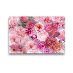 Premium Textil-Leinwand 45 x 30 cm Quer-Format Rosenzauber | Wandbild, HD-Bild auf Keilrahmen, Fertigbild auf hochwertigem Vlies, Leinwanddruck von Christine B-B Müller