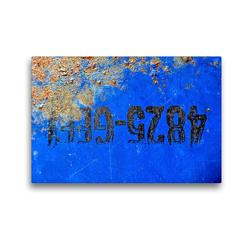 Premium Textil-Leinwand 45 x 30 cm Quer-Format Rostiges Ölfass | Wandbild, HD-Bild auf Keilrahmen, Fertigbild auf hochwertigem Vlies, Leinwanddruck von Anne Madalinski
