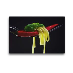 Premium Textil-Leinwand 45 x 30 cm Quer-Format Rote Chili | Wandbild, HD-Bild auf Keilrahmen, Fertigbild auf hochwertigem Vlies, Leinwanddruck von Tanja Riedel