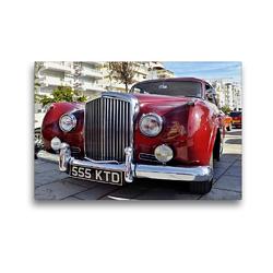 Premium Textil-Leinwand 45 x 30 cm Quer-Format Roter vintage Bentley   Wandbild, HD-Bild auf Keilrahmen, Fertigbild auf hochwertigem Vlies, Leinwanddruck von (c) 2019 by Atlantismedia