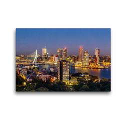 Premium Textil-Leinwand 45 x 30 cm Quer-Format Rotterdam. Wilhelminapier. | Wandbild, HD-Bild auf Keilrahmen, Fertigbild auf hochwertigem Vlies, Leinwanddruck von N N