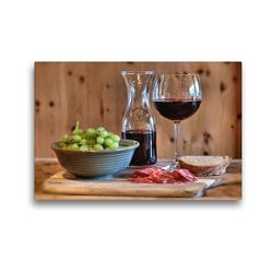 Premium Textil-Leinwand 45 x 30 cm Quer-Format Rotwein | Wandbild, HD-Bild auf Keilrahmen, Fertigbild auf hochwertigem Vlies, Leinwanddruck von Monika Lutzenberger