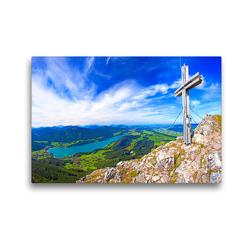 Premium Textil-Leinwand 45 x 30 cm Quer-Format Rund um den Fuschlsee   Wandbild, HD-Bild auf Keilrahmen, Fertigbild auf hochwertigem Vlies, Leinwanddruck von Christa Kramer
