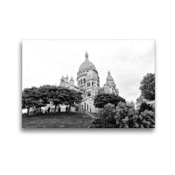 Premium Textil-Leinwand 45 x 30 cm Quer-Format Sacre Coeur in Paris | Wandbild, HD-Bild auf Keilrahmen, Fertigbild auf hochwertigem Vlies, Leinwanddruck von kattobello